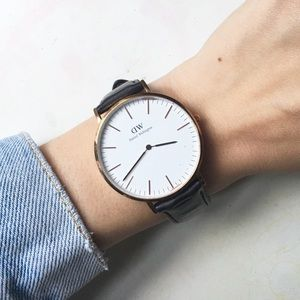 Daniel Wellington Dark Brown Leather Watch